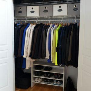 After Photo - Closet Organization & Shelf Building