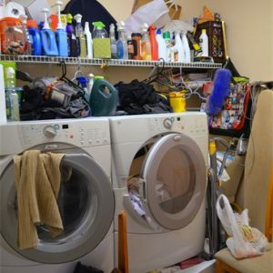 Dirty Laundry Room - Before Simply Organized