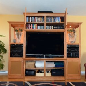 After Photo - Organized Home Entertainment Center by Simply Organized